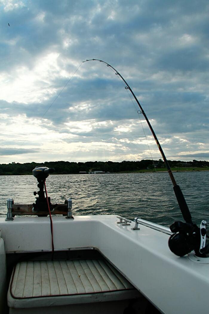 Striper fishing at lake texoma chickasaw country for Striper fishing lake texoma