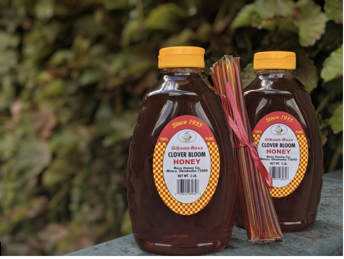 Bottled honey ready for sale