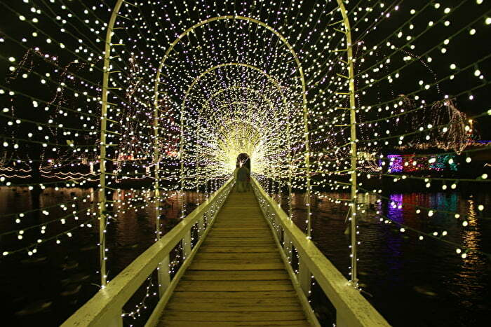 The light display covers over 43 acres and has 3.5 million twinkling lights.  This light display has been a tradition for 26 years in the community, ... - Christmas Lights In Chickasaw Country - Chickasaw Country