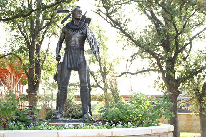 Statue in Sulphur, OK at Chickasaw Cultural Center