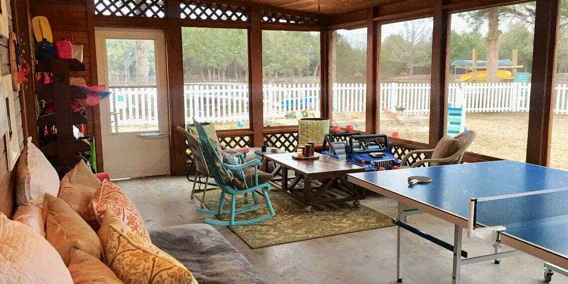 Blue Acres Ranch Porch in Tishomingo, Oklahoma