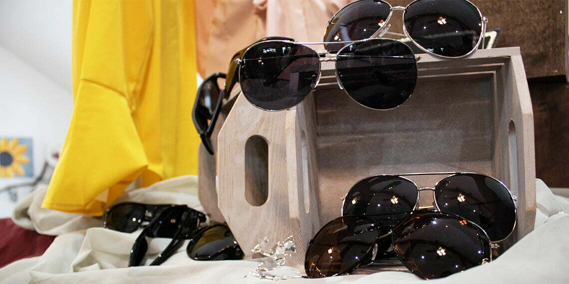 Oak and Ivy Fashion Boutique Sunglasses on Display in Sulphur, Oklahoma