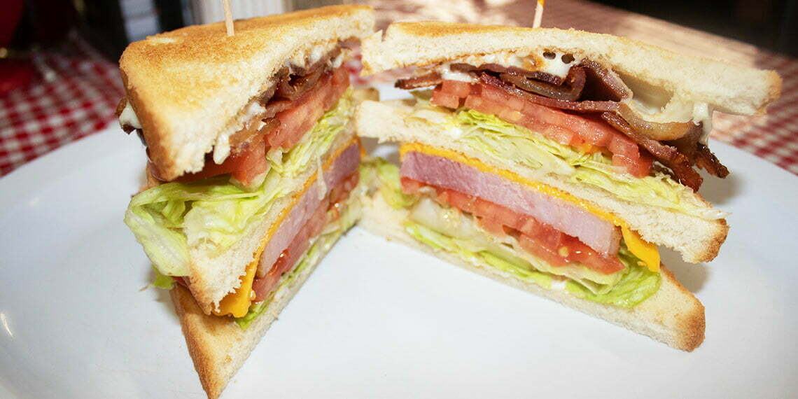 Club Sandwich at Country Kitchen in Madill, Oklahoma