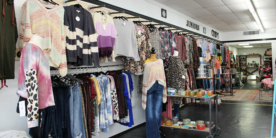 Clothes on Display at Polished Boutique in Chickasha, Oklahoma