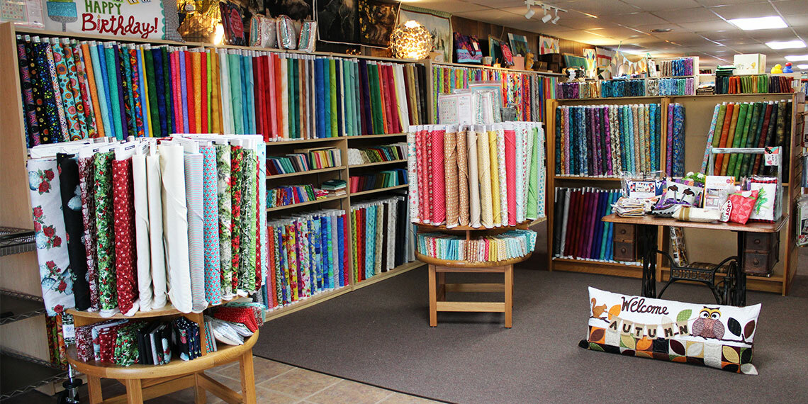Fabrics at Beth's Quilting Quarters in Blanchard, Oklahoma