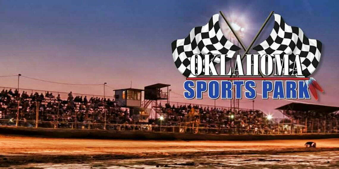 Oklahoma Sports racing track with banner in Ada, Oklahoma