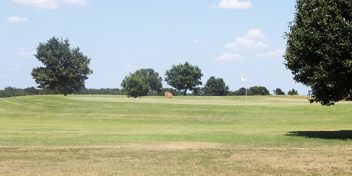 Hole 2 at Buncombe Creek Golf Course in Kingston, Oklahoma