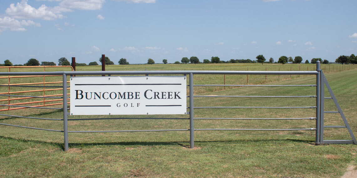 Entrance at Buncombe Creek Golf Course in Kingston, Oklahoma