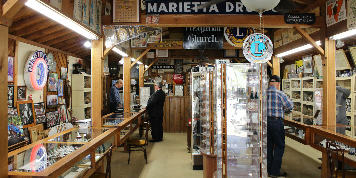 Interior of Norton's Jewelry in Marietta, Oklahoma