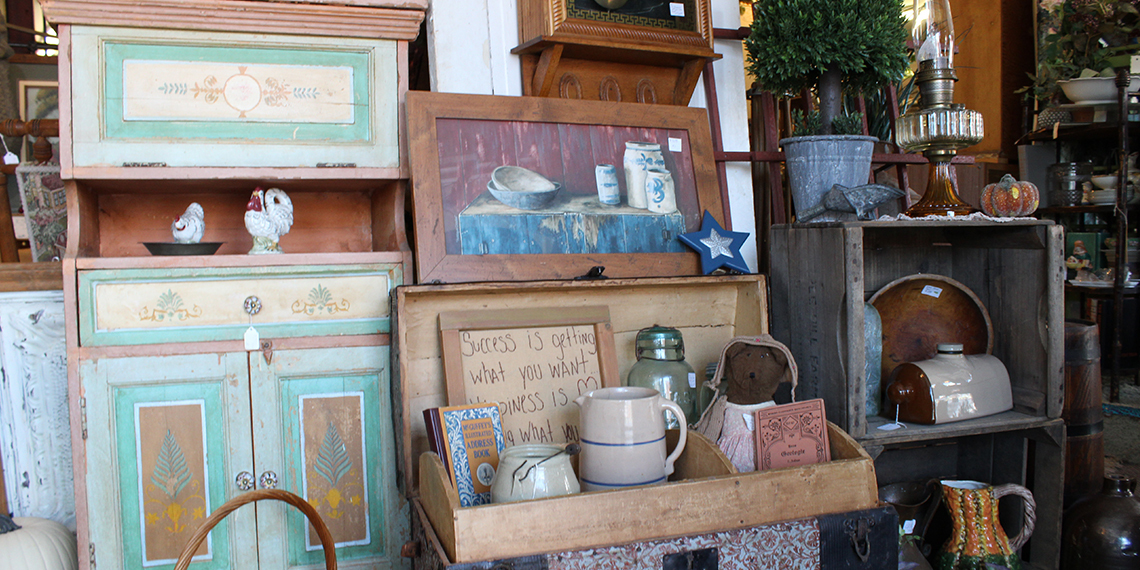 Furniture and Knick Knacks at Antiques Etc. In Ardmore, Oklahoma
