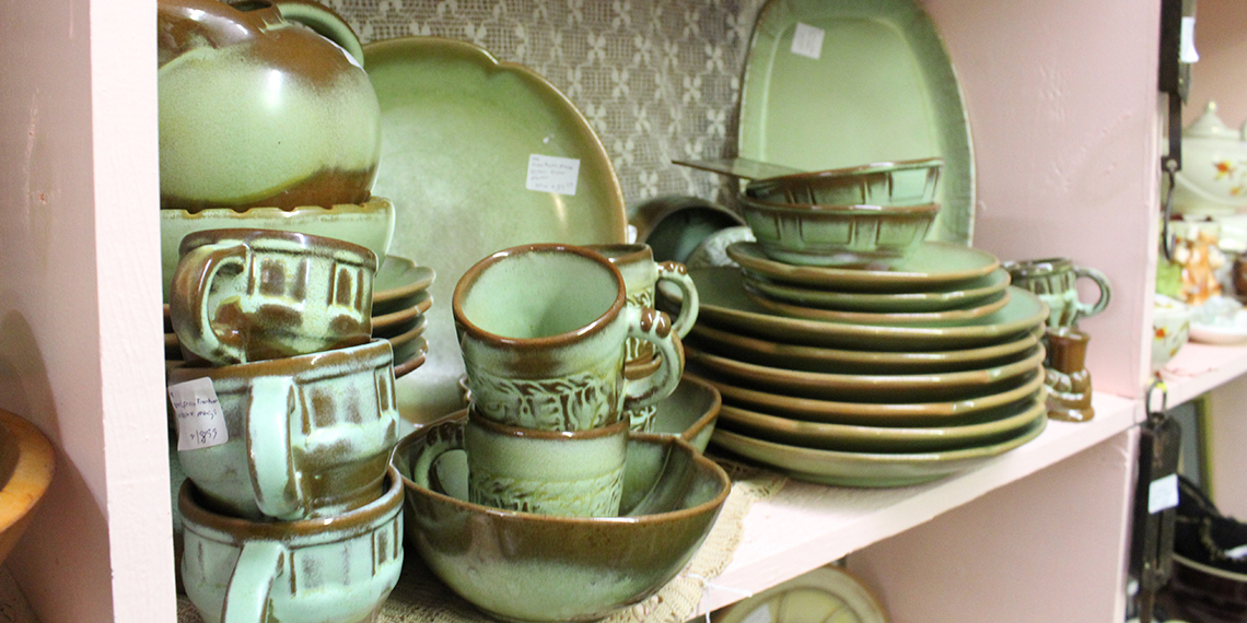Dishes at Antiques Etc. In Ardmore, Oklahoma