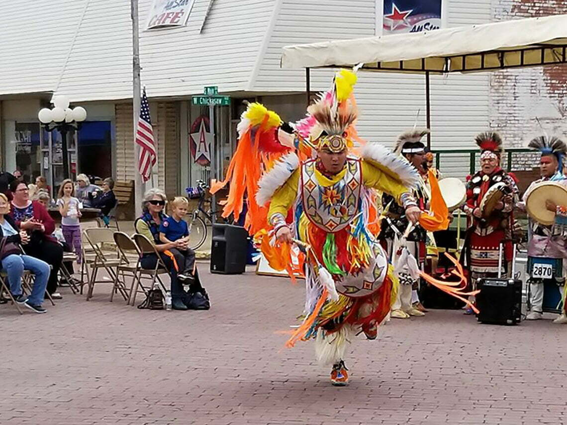 Native Dancer at the Founders Day Festival in Lindsay, Oklahoma