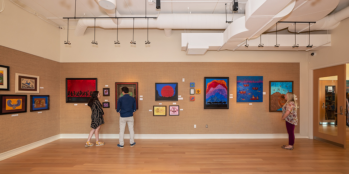 People viewing the gallery at the ARTesian Gallery and Studios in Sulphur, Oklahoma