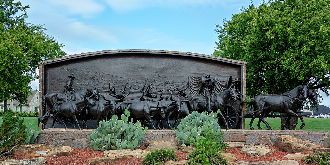 Trail Mural at the Chisholm Trail Heritage Center in Duncan, Oklahoma