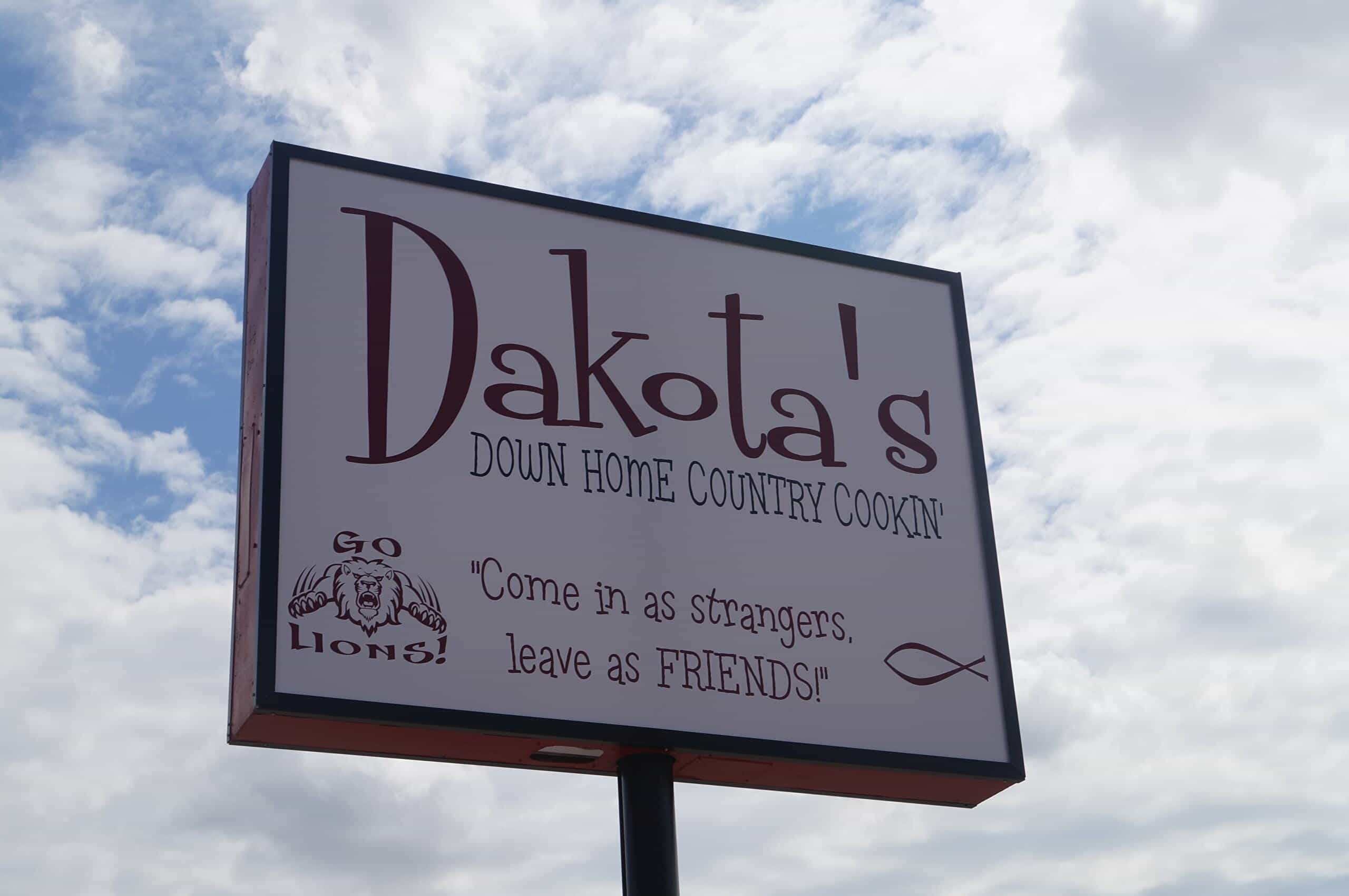 Exterior Sign for Dakota's in Blanchard, Oklahoma