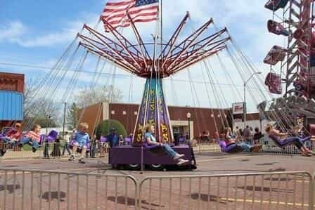 Rides at the Waurika Rattlesnake Hunt in Oklahoma