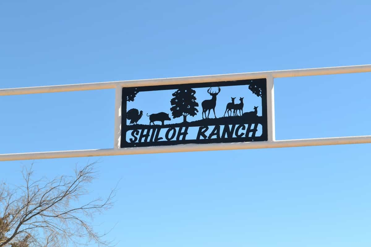 Sign for Shiloh Hunting Camp