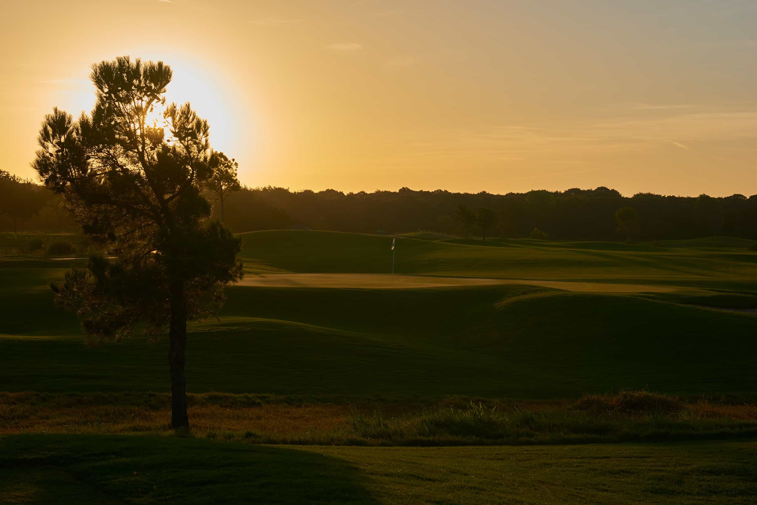 Sunset at Winstar Golf Course in Thackerville, Oklahoma