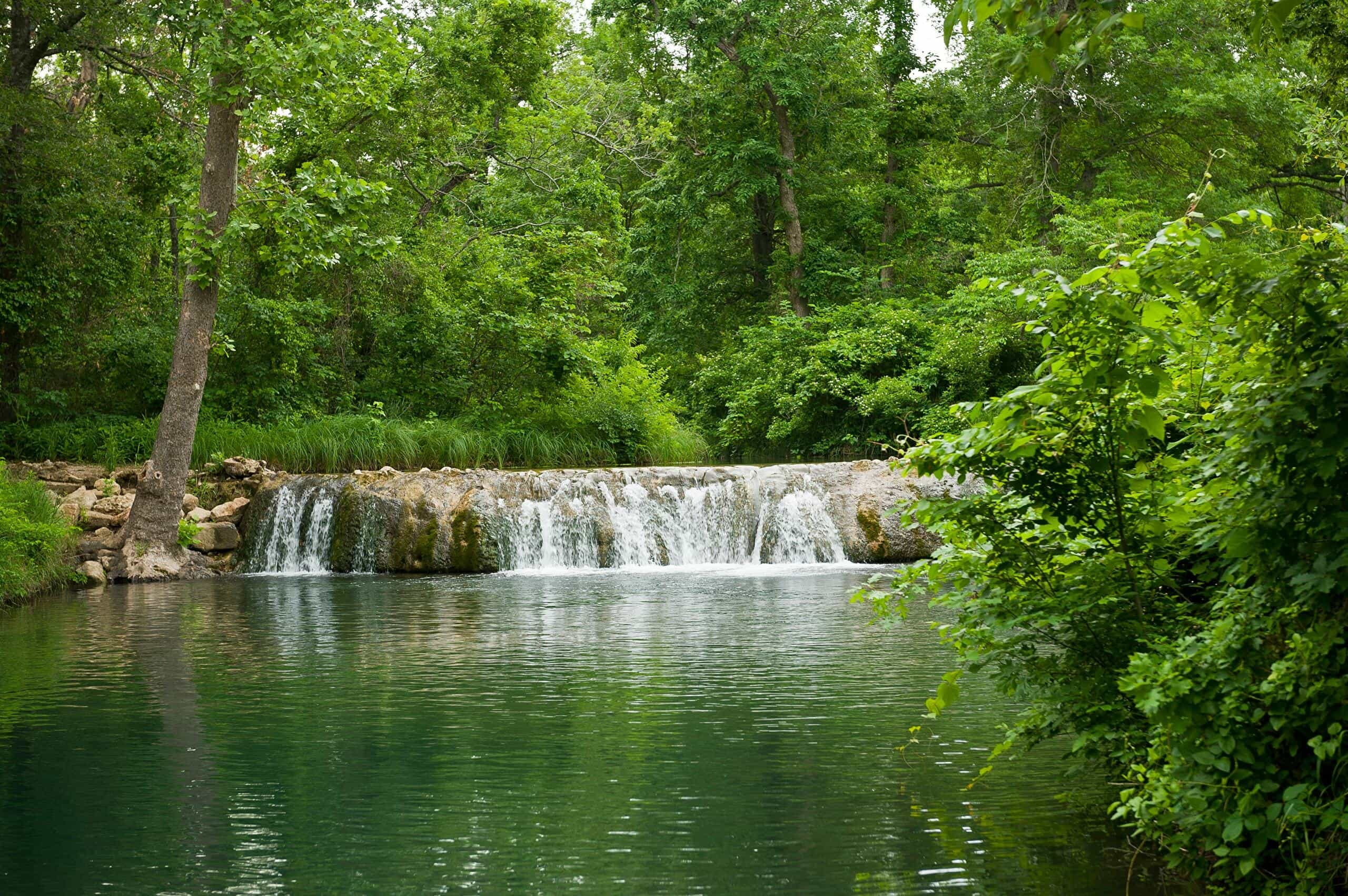 Waterfall at the Chickasaw National Recreation Area in Sulphur, Oklahoma