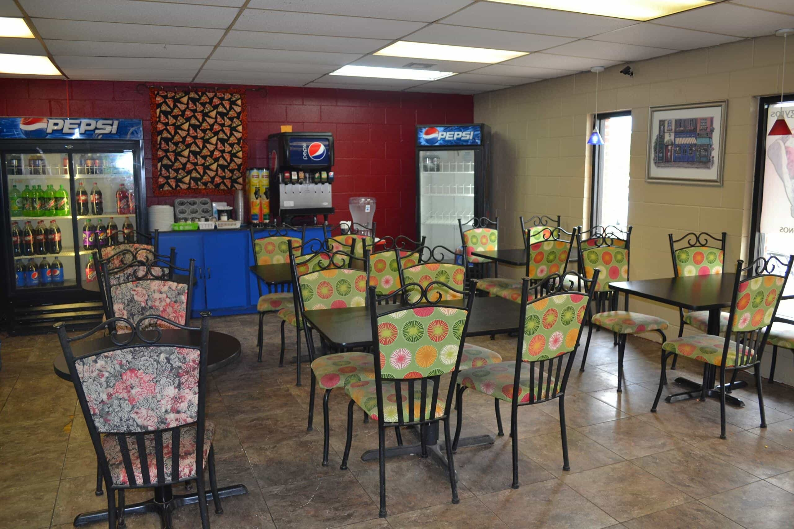 Interior at Pizza 360 in Tuttle, Oklahoma