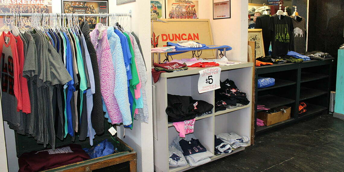 clothing at red dirt apparel in duncan oklahoma