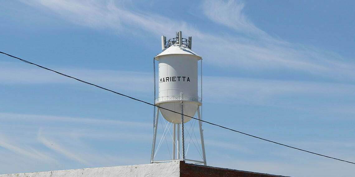 water tower in marietta, oklahoma