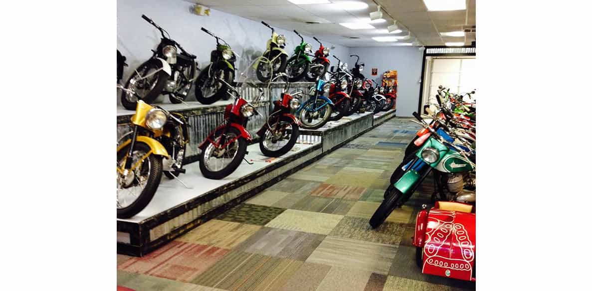 motorcycles at the caveman museum