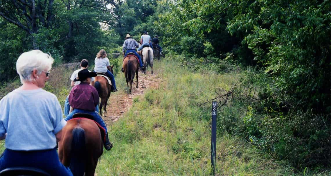 trail riders at arbuckle trail rides in sulphur oklahoma