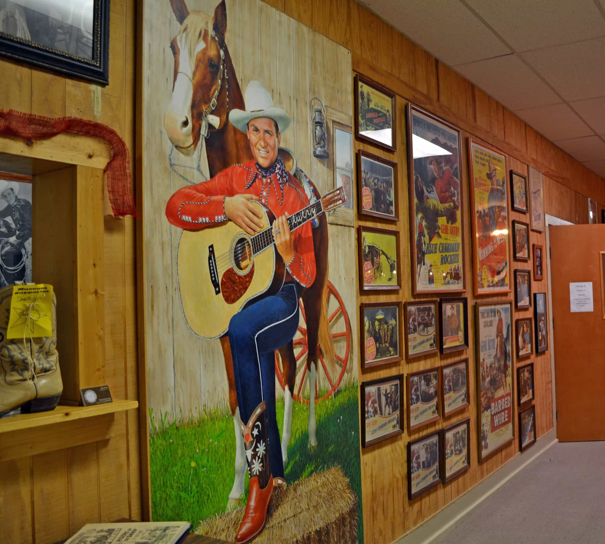 gene autry museum chickasaw country nestled in the small southern town of gene autry the gene autry oklahoma museum houses the largest private b western collection on display in the united