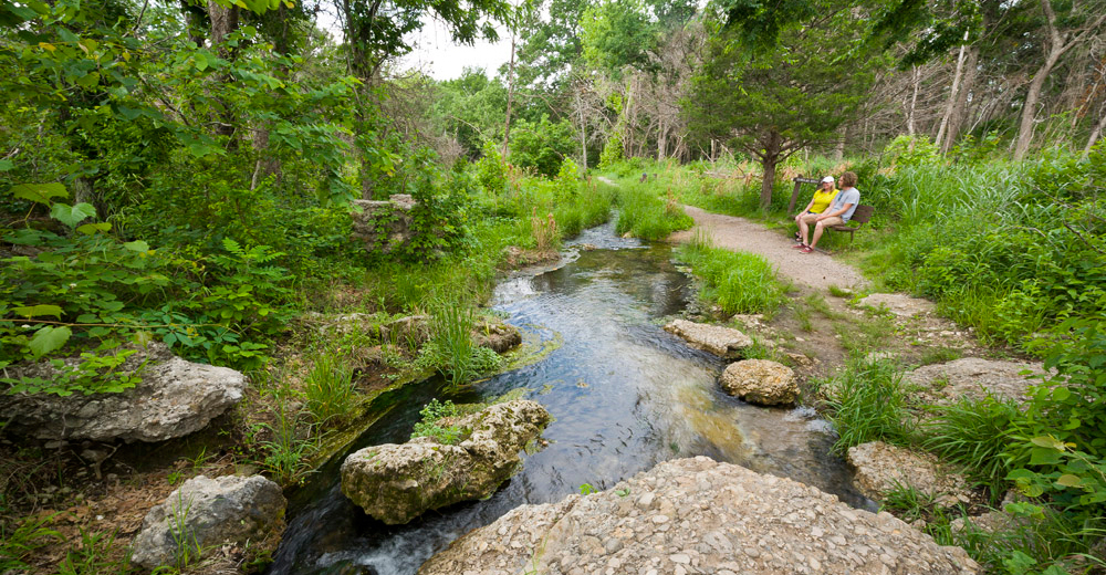 Scenery at Chickasaw National Recreation Area in Sulphur, Oklahoma