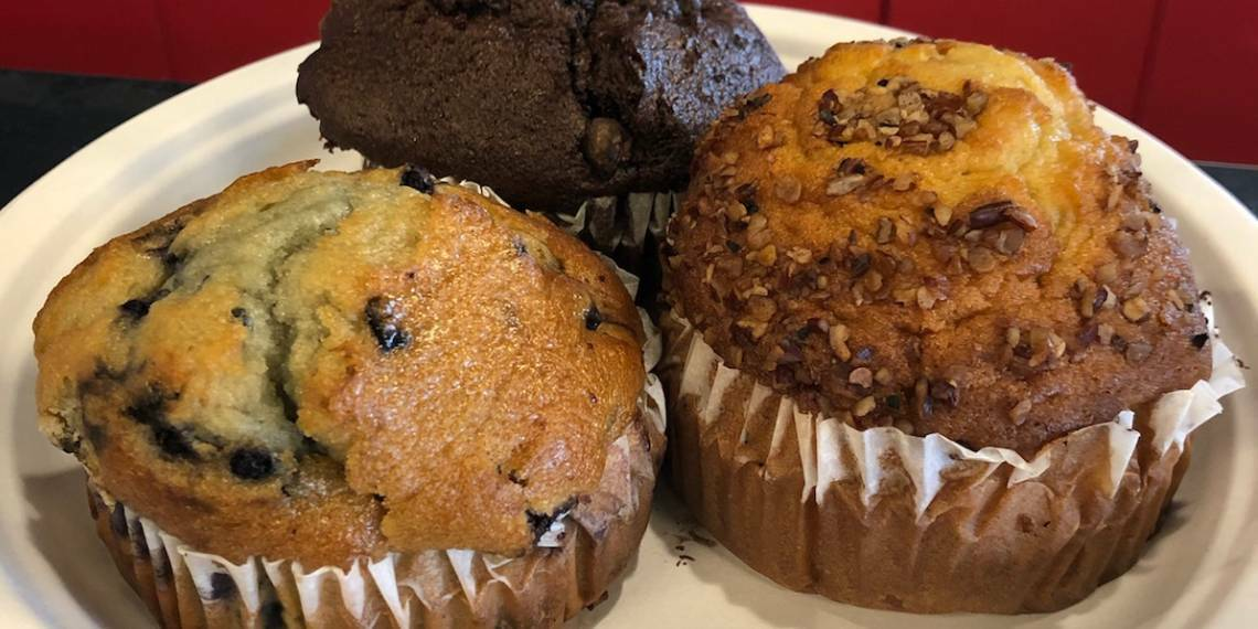 muffins at laylas yogurt cafe in chickasha, Oklahoma