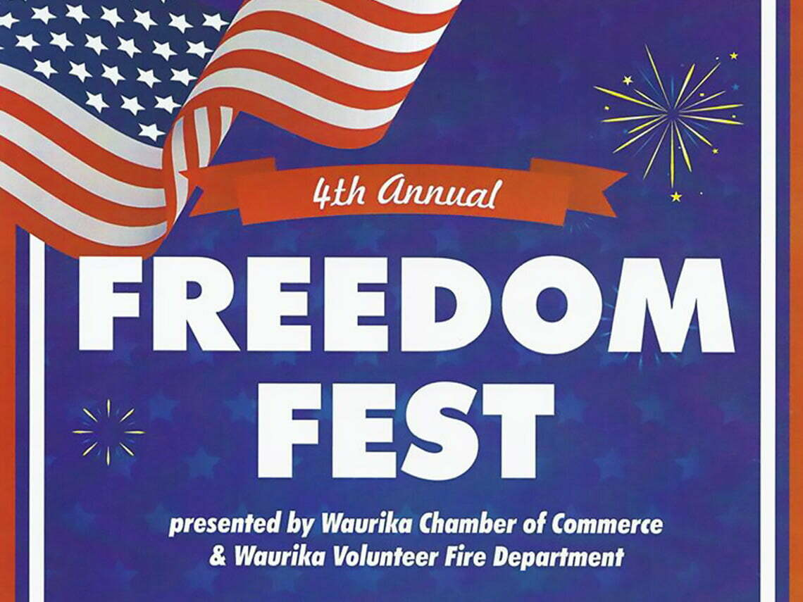 poster for waurika freedom fest in waurika oklahoma