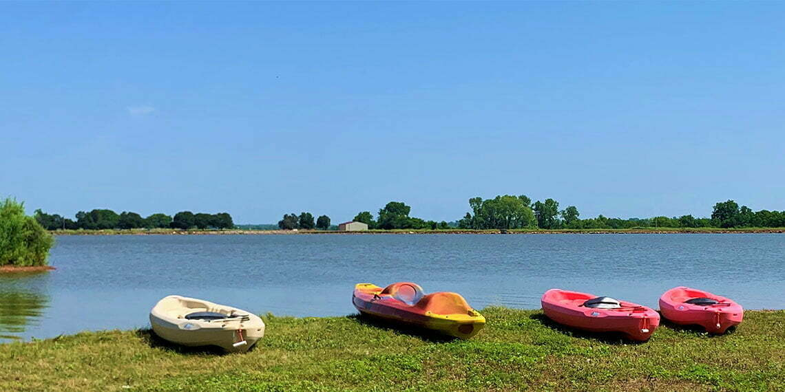 water sports at purcell lake in purcell oklahoma
