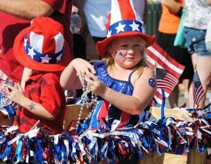 Children at Marlow's Ol Fashioned Independence Day Celebration