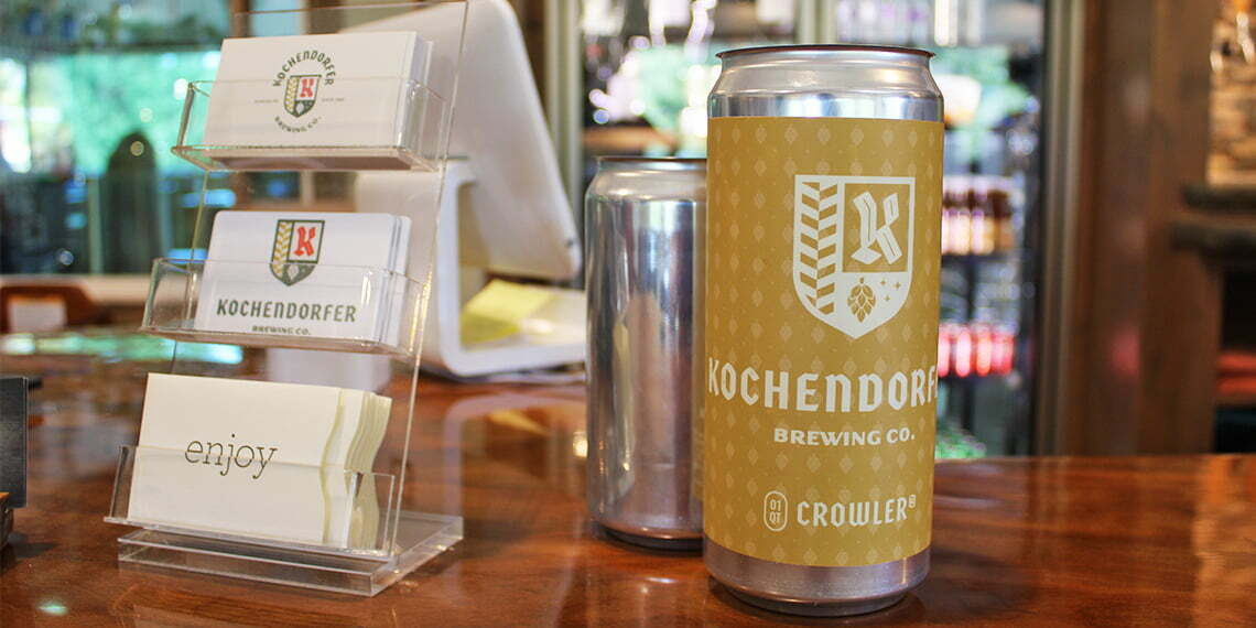 crowler at kochendorfer brewing co in duncan ok