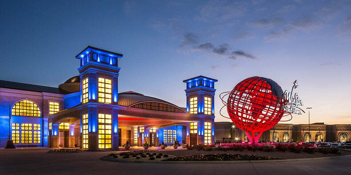 Front entrance at Winstar World Casino and Resort in Thackerville, Oklahoma
