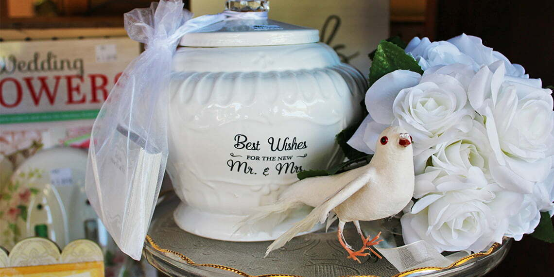 wedding items at hudsons antique alley in ada